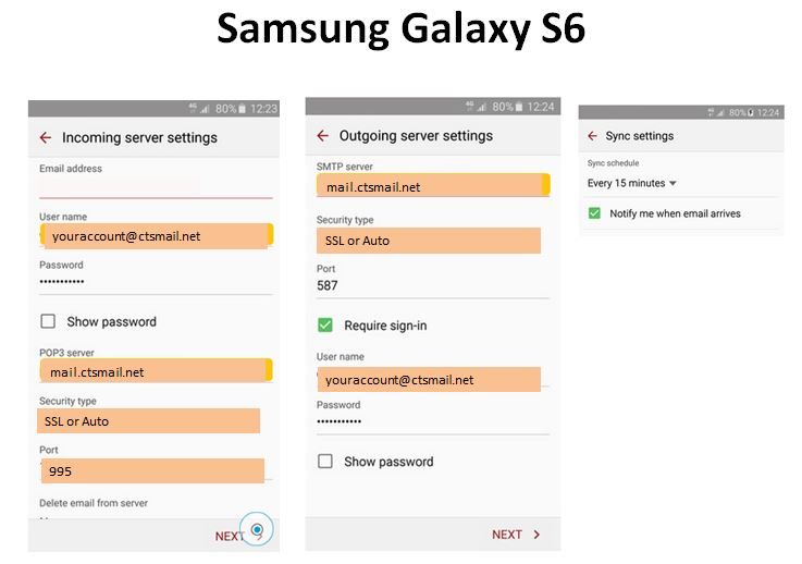 CTSMail Mobile Client Setup Samsung Galaxy S6.JPG